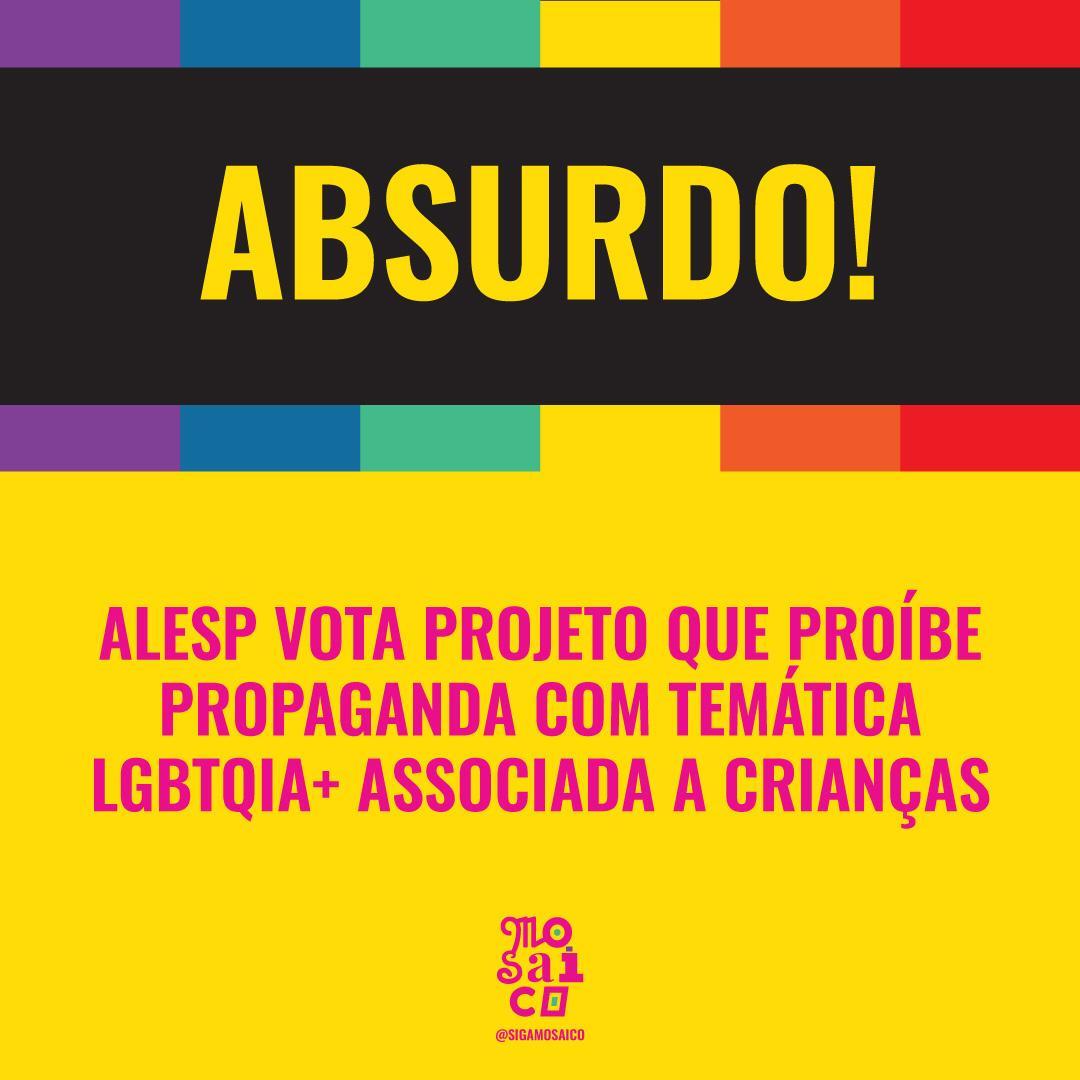 Alesp vota Projeto de Lei que liga LGBTQIA+ à influência inadequada para crianças